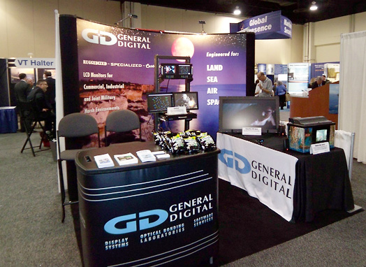 The General Digital booth at the 2011 Navy League Sea-Air-Space Exposition