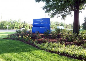 At the entrance to Lockheed Martin in Manassas, Virginia