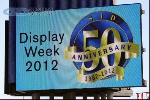 2012 SID Display Week trade show billboard
