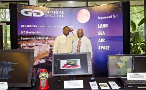 Tenell and Brian at Lockheed Martin Demo Day