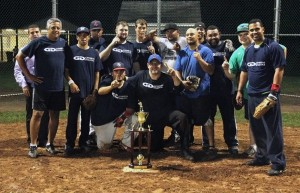 General Digital's winning softball team
