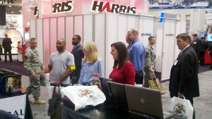 Our booth at AUSA always attracts a crowd