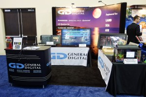 General Digital's booth at the 2013 Navy League Sea-Air-Space Exposition
