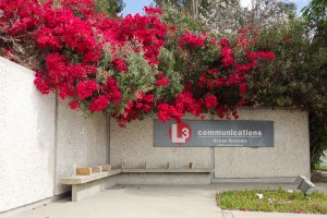 Lovely flowers decorate the entrance to L-3 Communications, Ocean Systems Division in Sylmar, CA