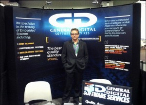 Rafael posing in the General Digital Software Services booth at the 2013 AUVSI Annual Conference