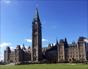 Parliament Hill Peace Tower Centre Block in Ottawa
