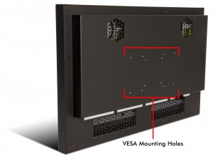 Monitor VESA mounting holes