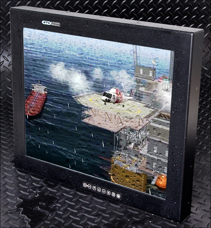 Barracuda 19-inch rugged waterproof monitor