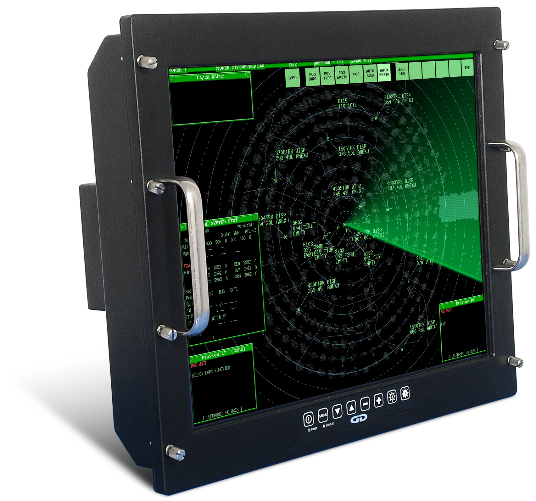 Saber RackMount Solar NVIS military-grade high bright monitor