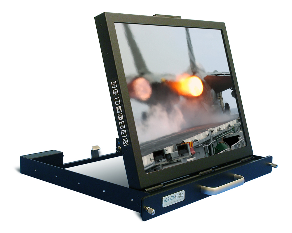 SlimLine Micro rugged 19-inch flip-up monitor