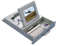 Original SlimLine flip-up display with keyboard and touch pad - circa 1992
