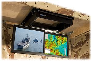 TwoView Micro - Rugged, Flip-down, Dual LCD Monitors