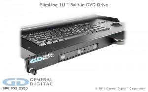 SlimLine 1U built-in DVD drive