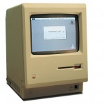 The first Macintosh computer, circa 1984