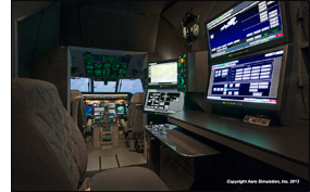 Saber Standalone 21.5 inch widescreen LCD monitors in Coast Guard HC-144A Flight Trainer