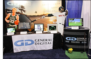 General Digital's booth at SID Display Week 2012 in Boston, MA