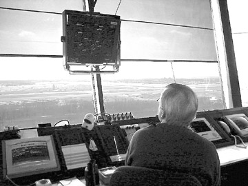 An air traffic controller monitors thousands of aircraft every day with the GenStar