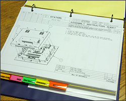 Photo of mechanical drawing