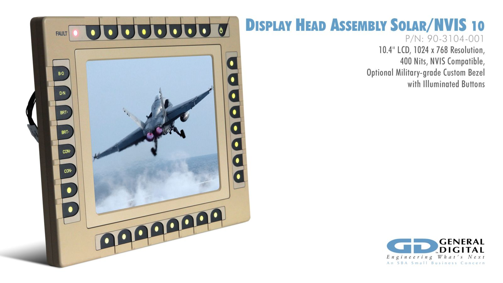 Rugged Displays & Monitors for Military, Industrial, Air Traffic