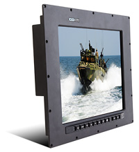 Barracuda PanelMount - Sunlight Readable, NVIS-Compatible Waterproof IP67-Sealed Panel Mount 17 inch LCD Monitor