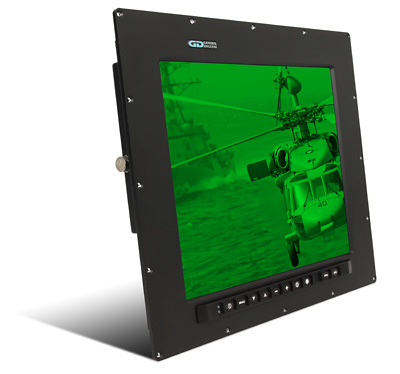Barracuda PanelMount Solar-NVIS 901D Waterproof Sealed 17 inch LCD Monitor