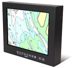 Barracuda Standalone Solar IP67 Sealed Outdoor Sunlight Readable Mountable LCD Monitor with a Night Vision-Compatible Display