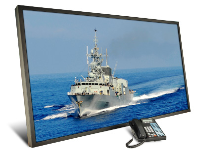 Titan PanelMount 65 inch rugged LCD monitor built for Canadian Navy Arctic Patrol Ships