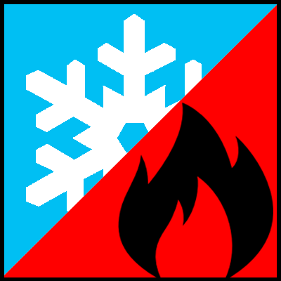 Extended operating temperature range icon