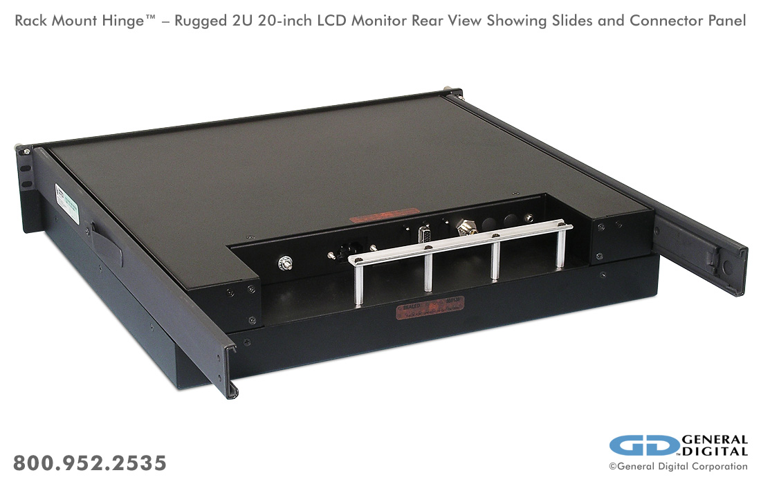 Rack Mount Hinge Rugged Flip Up Flip Down Monitor Deep