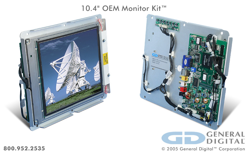Impact | Rugged Open Frame LCD Monitor Kit | General Digital
