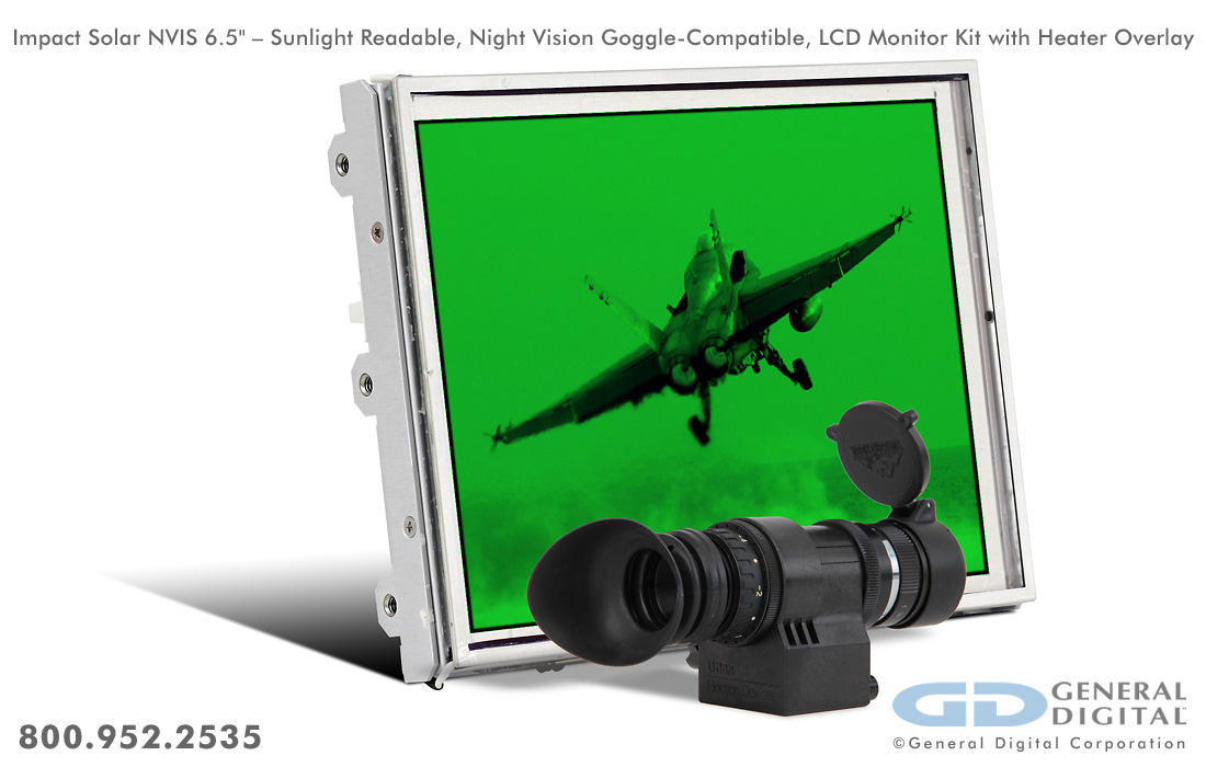 Impact | Rugged Open Frame LCD Monitor Kit | General Digital