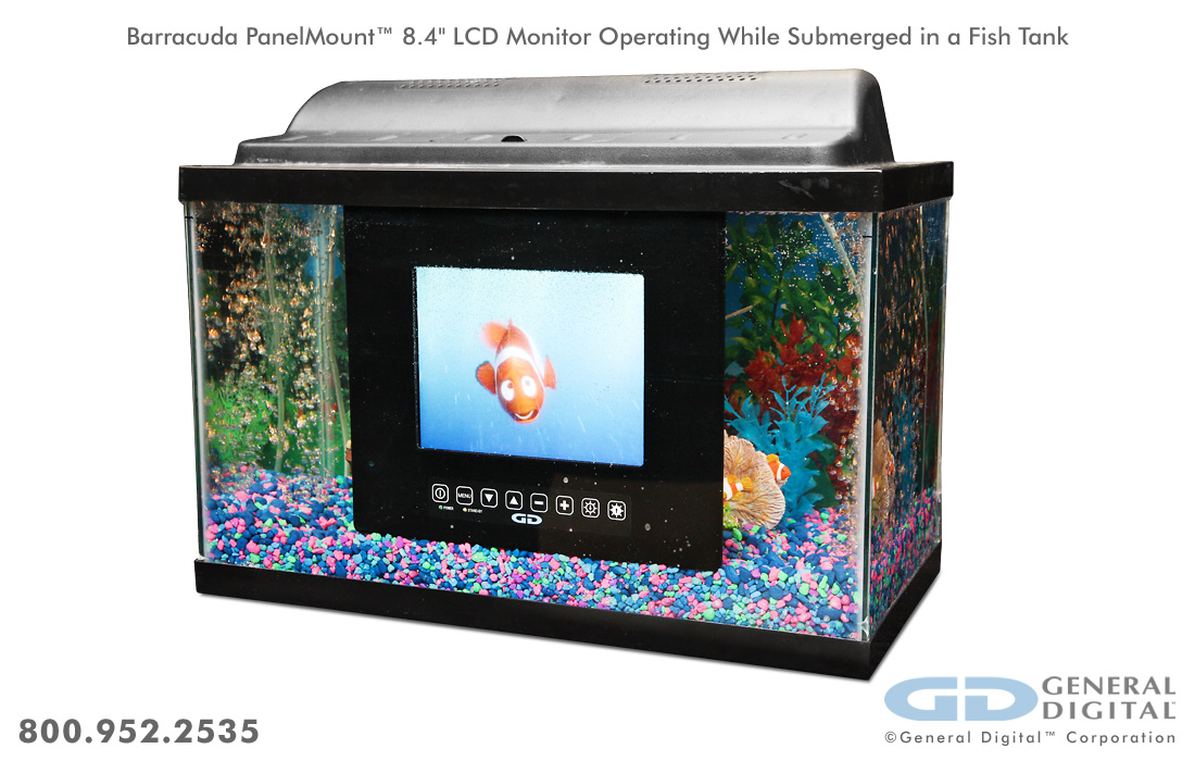 Barracuda Marine Grade Waterproof Sealed Lcd Monitors