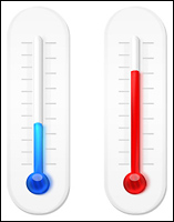 Graphic of thermometers