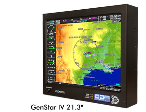 GenStar IV 21.3 inch Sunlight Readable LCD Monitor for Air Traffic Control Towers