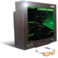 GenStar 20 inch sunlight readable LCD monitor designed for air traffic control towers