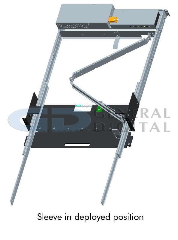 Rack Sleeve Assembly in deployed position - for SlimLine Lite II Series