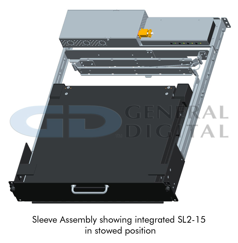 Rack Sleeve Assembly showing integrated SL2-15 in stowed position