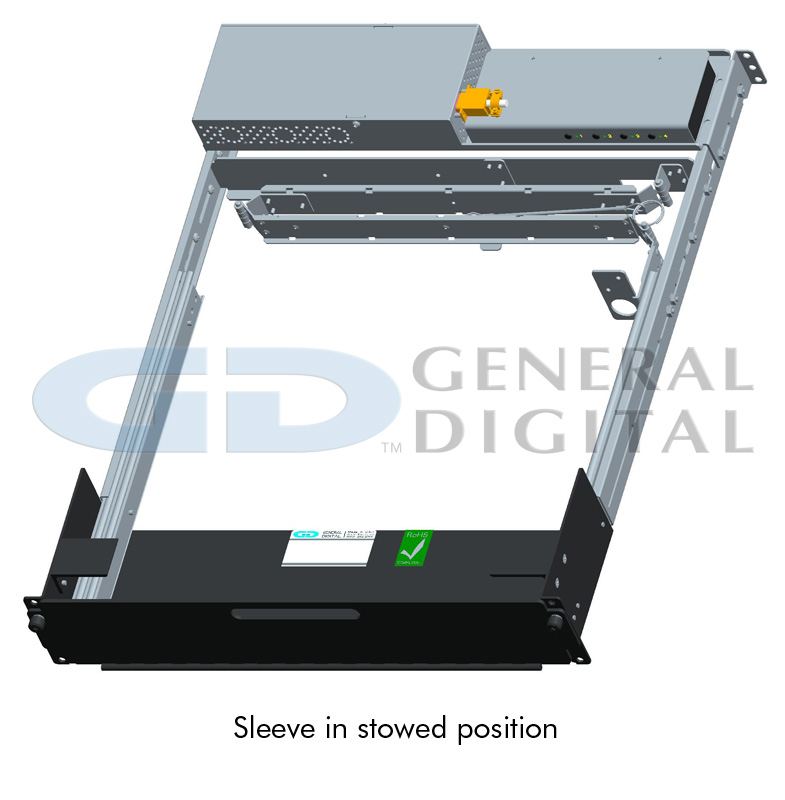 Rack Sleeve Assembly in Stowed Position - for the SlimLine Lite II Series