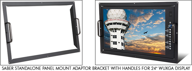 Saber Standalone Panel Mount Adaptor Bracket with Handles for 24 inch WUXGA Display