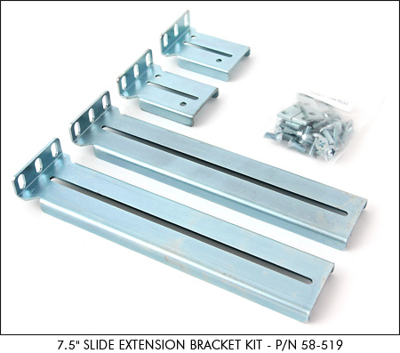 SlimLine Lite II 7.5 inch Slide Extension Bracket Kit