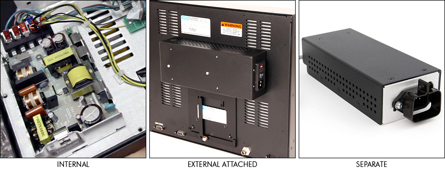Photos of different types of power supplies
