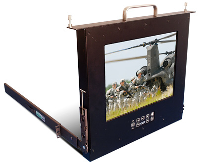 Photo of Rack Mount Hinge rugged LCD monitor