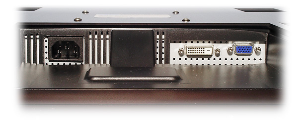 Photo of connector panel