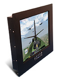 Saber PanelMount Solar Sunlight Readable LCD Monitor with an LED Backlight