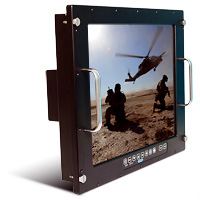 Saber PanelMount Solar NVIS Rugged Military LCD Monitor