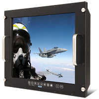 Saber PanelMount Solar Sunlight Readable Night Vision LCD Monitor with LED Backlights