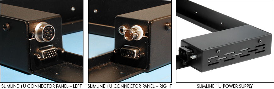 SlimLine 1U connector panels and power supply
