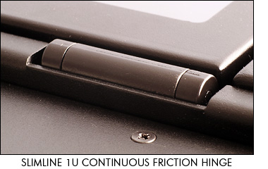 SlimLine 1U continuous friction hinge