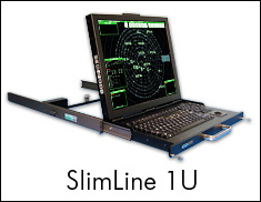 Photo of SlimLine 1U flip-up LCD monitor