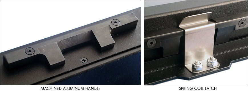 SlimLine 1U handle and spring coil latch